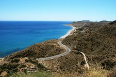 Spanish coastline Mojacar. Stock Photos