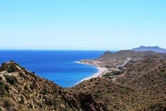 Spanish coastline, Mojacar. Royalty Free Stock Photos