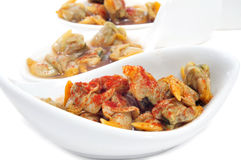 Spanish cockles, served as appetizer Stock Image