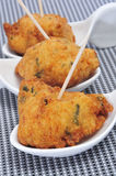Spanish cod fritters tapas Stock Photo