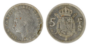 Spanish Coin royalty free stock image