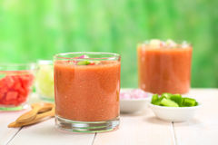Spanish Cold Soup Called Gazpacho Royalty Free Stock Photos