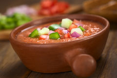 Spanish Cold Soup Called Gazpacho Stock Image