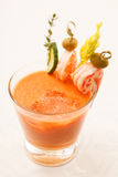 Spanish cold tomato soup Royalty Free Stock Images