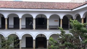 Spanish Colonial Buildings, Old Architecture stock footage
