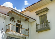 Spanish Colonial Style Balconies Royalty Free Stock Photo