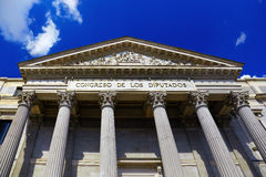 Spanish Congress of Deputies at Madrid Royalty Free Stock Photo
