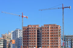 A Spanish Construction Site Royalty Free Stock Photography