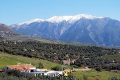 Spanish countryside, Colmenar. Royalty Free Stock Image