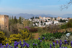 Spanish County View of Granada Spain Royalty Free Stock Images