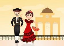 Spanish couple Royalty Free Stock Images