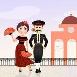 Spanish couple Royalty Free Stock Image