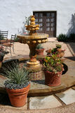 Spanish Courtyard Fountain stock photography