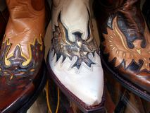 spanish cowboy boots Stock Photography