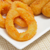 Spanish croquettes and calamares a la romana, squid rings Stock Photography