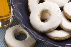 Spanish cuisine. Andalusian wine doughnuts. Stock Images