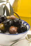 Spanish cuisine. Assorted olives. Stock Images