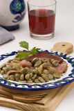 Spanish Cuisine. Broad beans Andalusian style. Royalty Free Stock Photography