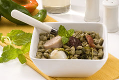 Spanish Cuisine. Broad beans Catalan style. Royalty Free Stock Photography