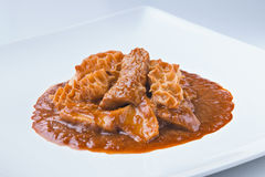 Spanish cuisine callos beef tripes with sauce Stock Image
