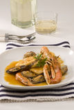 Spanish cuisine. Catalan fish stew. Royalty Free Stock Photography