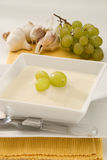 Spanish cuisine. Chilled garlic soup. Stock Images