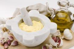 Garlic Mayonnaise Sauce. Alioli. Stock Image