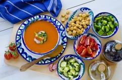 Spanish Cuisine. Gazpacho. royalty free stock images