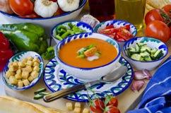 Spanish Cuisine. Gazpacho. stock photography