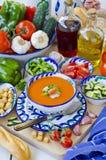 Spanish Cuisine. Gazpacho. stock photos