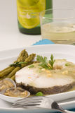 Spanish cuisine. Hake Basque style. Royalty Free Stock Photo