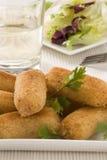 Spanish cuisine. Ham croquettes. Stock Images