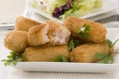 Spanish cuisine. Ham croquettes. Stock Image