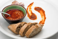 Spanish cuisine. Mojo Picon Sauce from the Canary Islands. Stock Photo