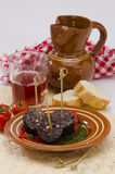 Spanish Cuisine. Morcilla de Burgos. Black Pudding. Stock Photos