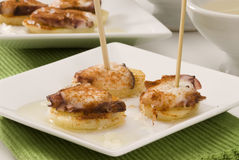 Spanish cuisine. Octopus Galician style. Stock Photography