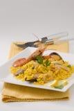 Spanish Cuisine. Paella. Spanish rice. Royalty Free Stock Photos