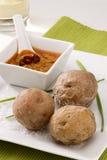 Spanish cuisine. Red mojo sauce. Stock Image