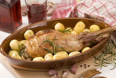Spanish cuisine. Roasted lamb. Royalty Free Stock Images