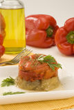 Spanish cuisine. Roasted pepper salad. Royalty Free Stock Photos