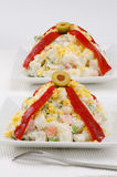 Spanish Cuisine. Russian salad. Ensaladilla rusa. Royalty Free Stock Photos