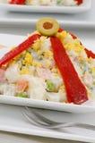 Spanish Cuisine. Russian salad. Ensaladilla rusa. Stock Photos
