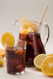 Spanish cuisine. Sangria. Red wine punch. Stock Photos