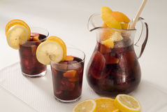 Spanish cuisine. Sangria. Red wine punch. stock images