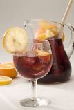 Spanish cuisine. Sangria. Red wine punch. Stock Photo