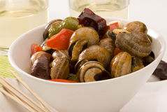 Spanish cuisine. Snails in sauce. Stock Photography