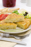 Spanish Cuisine. Spanish Omelette. Tortilla de patatas. Stock Photo