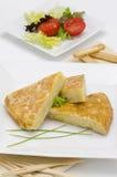 Spanish Cuisine. Spanish Omelette. Tortilla de patatas. Stock Photos