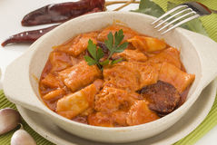Spanish cuisine. Stewed tripe, Madrid sty Stock Image