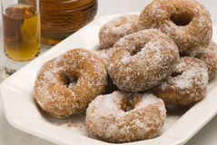 Spanish cuisine. Sweet fritters. Royalty Free Stock Photo